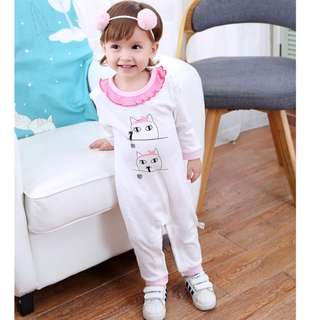 ★READY STOCK★ 3-6M Baby Girl Princess Long Sleeved Romper