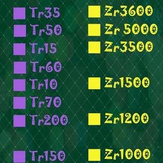 二手tr. zr