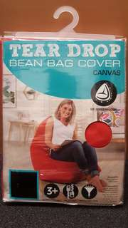 Living Space Burnt Orange Canvas Bean Bag Cover