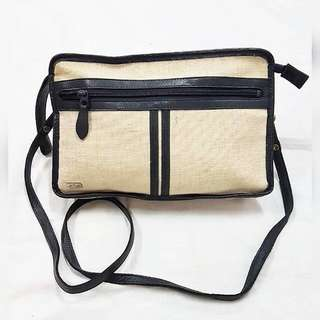 PHILIPPE LEATHER TRIM 2 WAY BAG