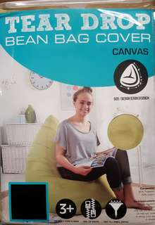 Living Space Olive Canvas Bean Bag Cover