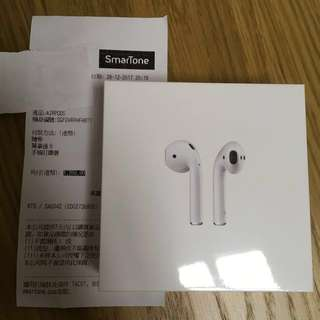 Apple AirPod 全新未開封(28-12-2017 購自Smartone)