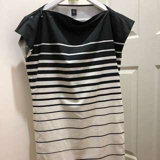 GG5 stripy shift dress