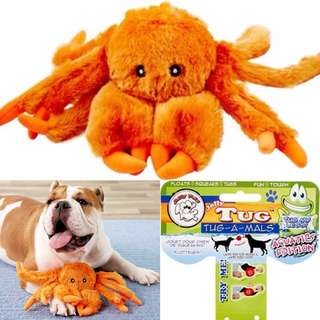 NON TOXIC INDOOR OUTDOOR TOY Large and X large Tug Dog squeaker toy by Jolly Pets Tug-a-mal crab
