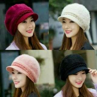 Topi Rajut Bulu Impor Korea