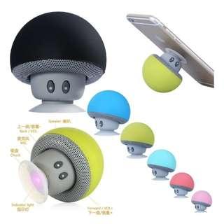 Mini Wireless Portable Bluetooth Speaker Mushroom Design for Mobile IPhone IPad Tablet PC