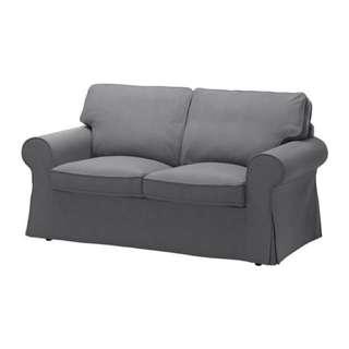 IKEA Ektorp Loveseat Couch In Grey
