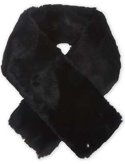$480 TED BAKER Softyy faux-fur long scarf black color Valentine's Day Chinese New Year,birthday,Anniversary gift  情人節新年生日週年禮物