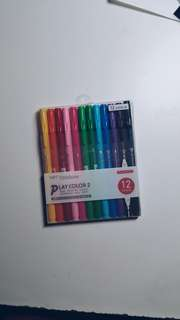 Tombow play colour 2 marker set (12 colours)
