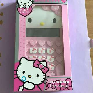 Sweet Hello kitty 12 digits calculator with solar energy