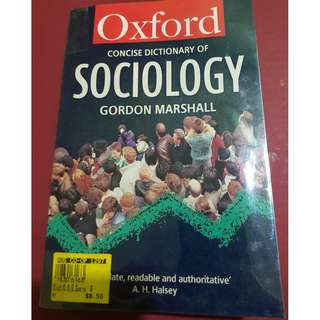 Oxford Concise Dictionary of Sociology
