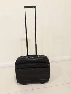 Stylish Pierre Cardin Full Leather Cabin Size Luggage