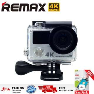 Original REMAX SD-02 Sports Action Camera 4K HD Waterproof Wifi DV