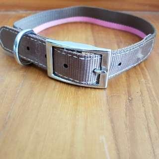 Brown and Pink Adjustable Belt Dog Collar (Large)