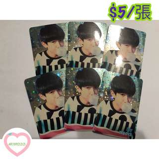 Tfboys yescard 130發 閃卡