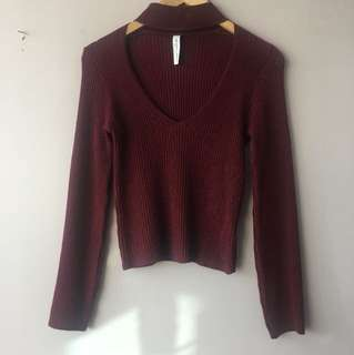 Mendocino burgundy sweater in small