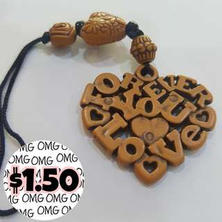 📮Free NORMAL postage 💯Brand New Tribal Wooden-Like Love Charm Design 1