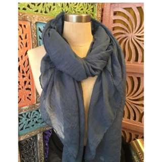 Cotton silky scarf 絲綿圍巾