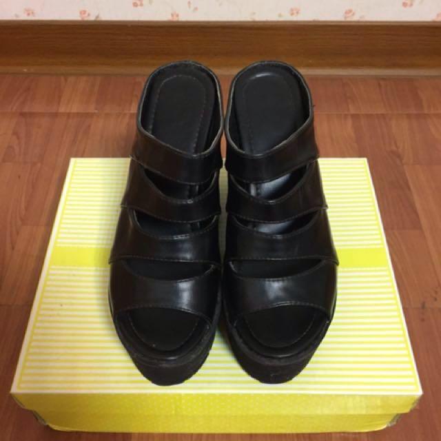 (38)魚口露趾厚底涼鞋