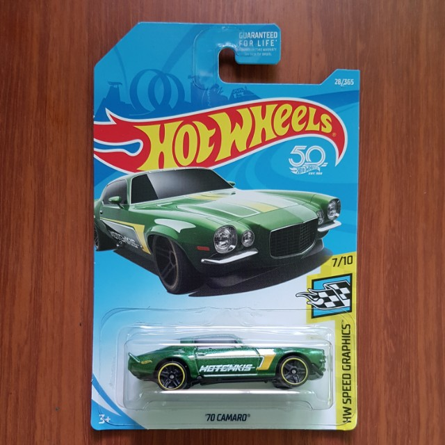 '70 Camaro Hotwheels US Card