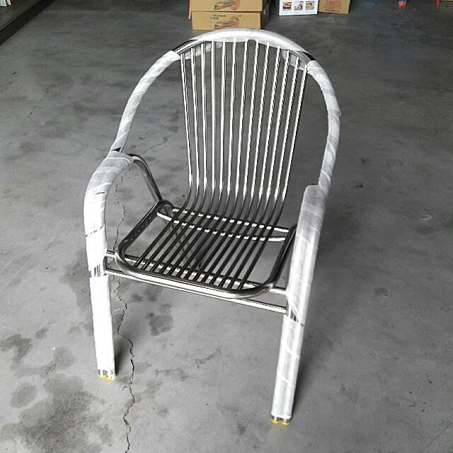 戶外休閒白鐵椅