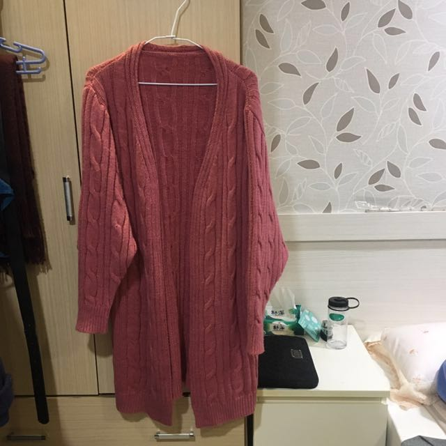 針織外套藕粉