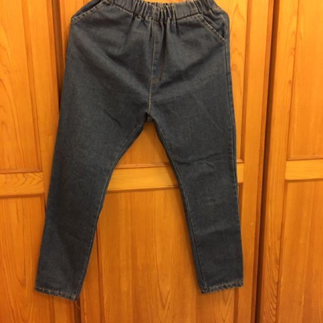 牛仔鬆緊褲
