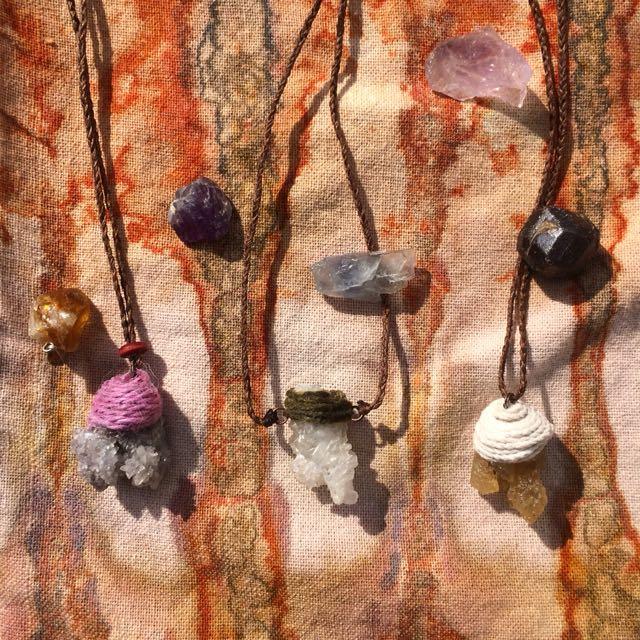 手工水晶礦石項鍊