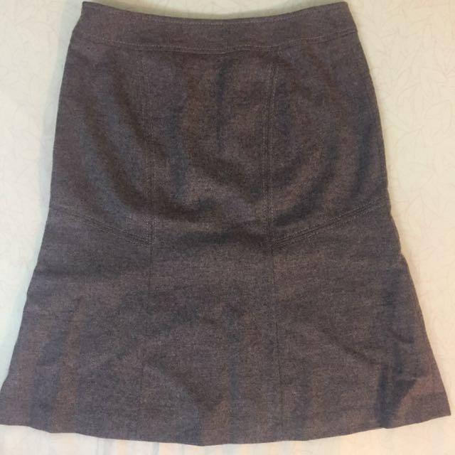 灰色氣質中腰裙 尺碼34