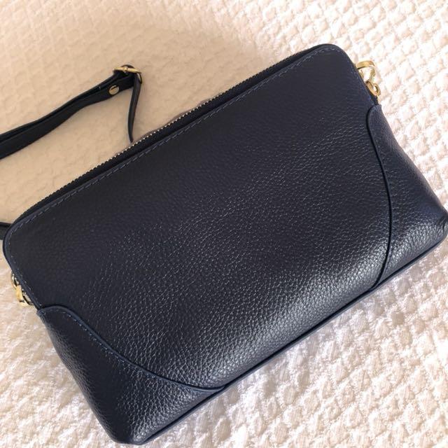【現貨+預購】韓國 韓貨 真皮質感肩背包 側背包 100% 實品拍攝 高質感 深藍