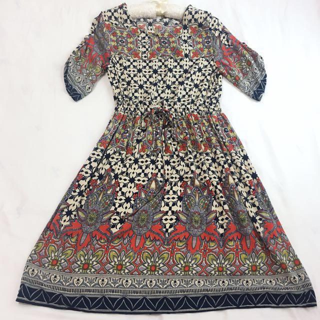 普普風 波斯米亞 洋裝 #雙十一女裝出清