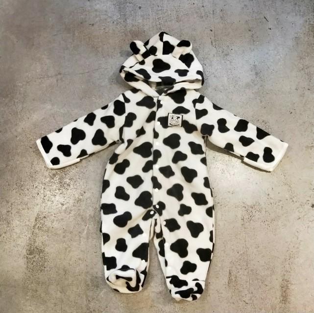 日本 古著 小孩 幼兒 嬰兒衣服 連身衣 動物 乳牛 套裝 可愛