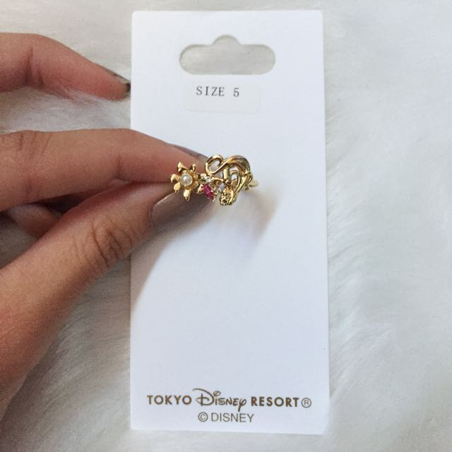 🎀 Disney Disneysea Tokyo Beauty and the Beast Rose Gold Ring Size 5