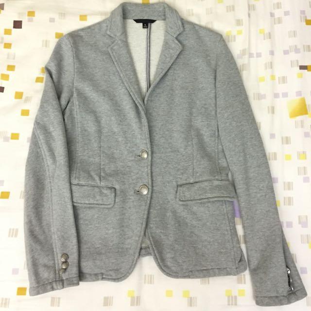 女裝 uniqlo 棉質 休閒西裝外套
