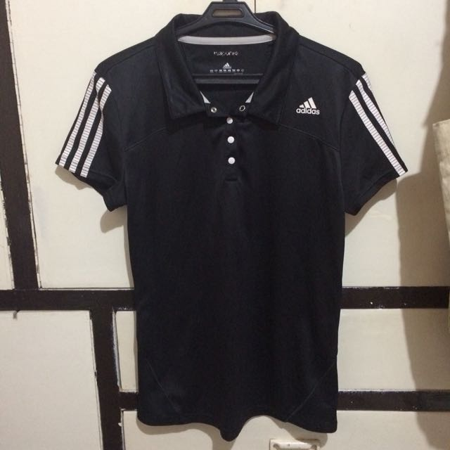 Adidas Response Climacool Collared Black shirt