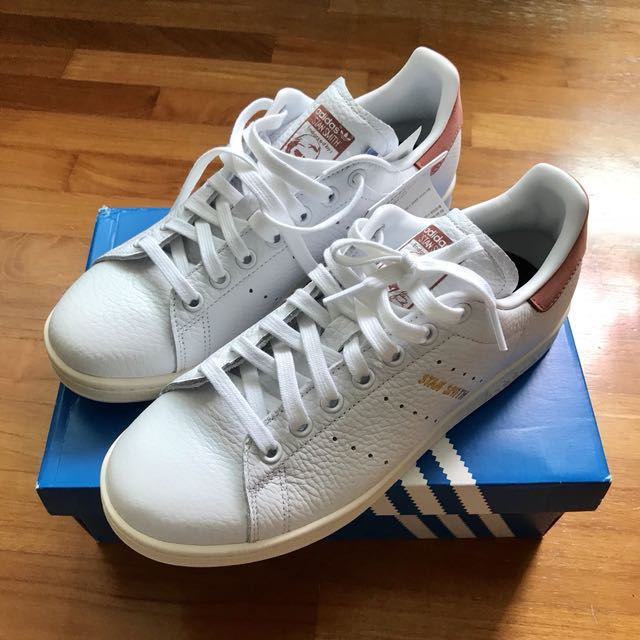 779578eee7afa9 Adidas Stan Smith White Ray Pink Rose Gold Exclusive Size US7 ...