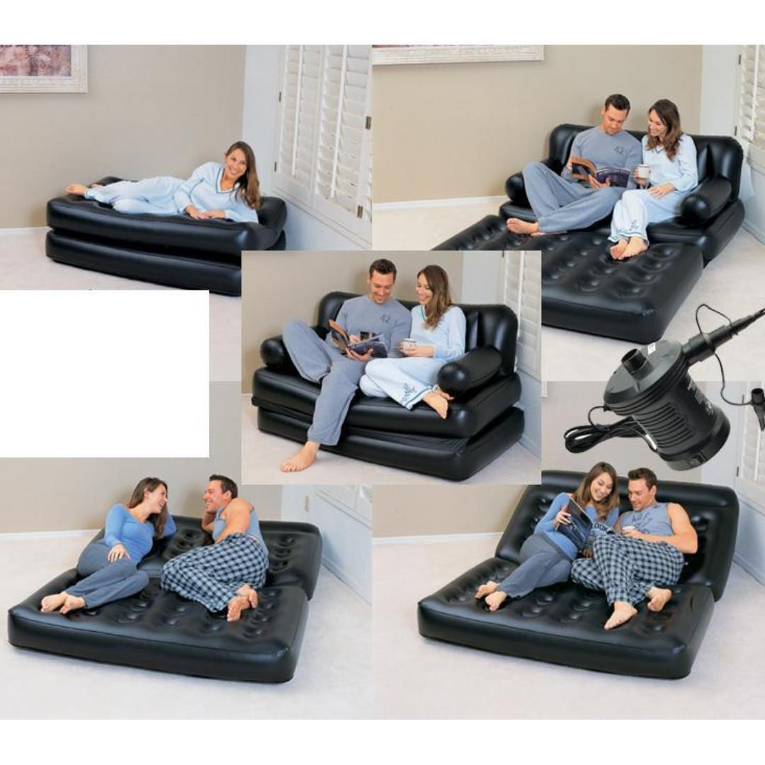 Air Sofabed Bestway 5 In 1 Sofa Bangku Kasur Angin Portable Single Perabotan Rumah Di Carousell