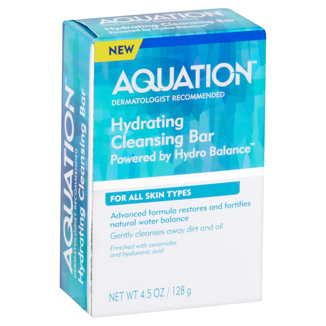 Aquation Hydrating Cleansing Bar Soap 128g Made in USA Alternative to Cetaphil