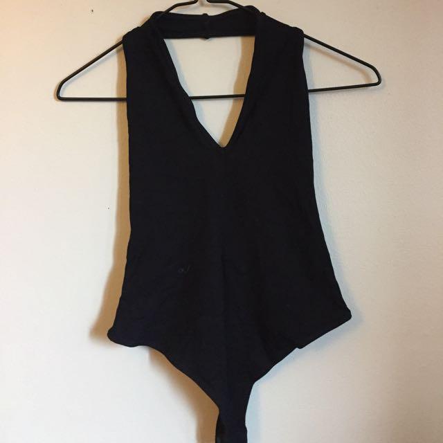 ASOS Black Halter Bodysuit