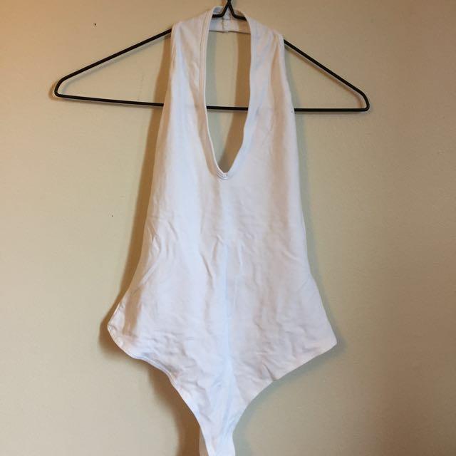 ASOS White Halter Bodysuit