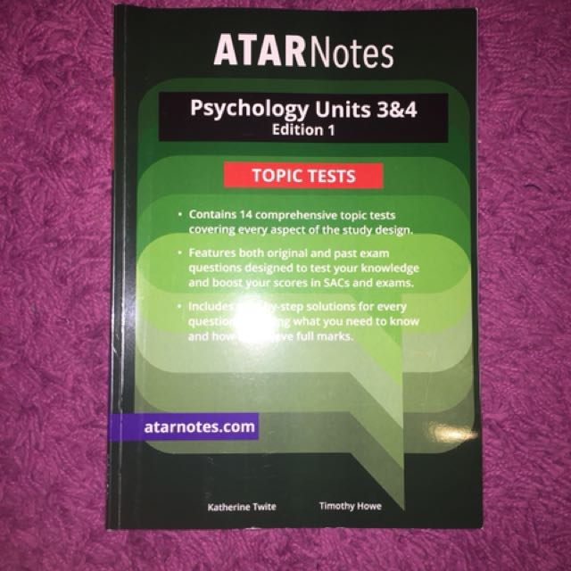 ATARNotes VCE Psychology topic tests