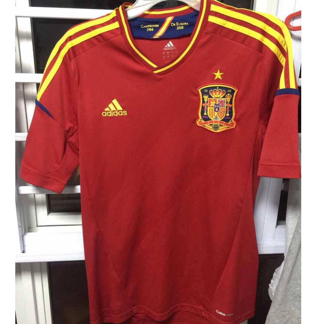 Authentic Adidas Spain Home Jersey (Used) 7e03379a1