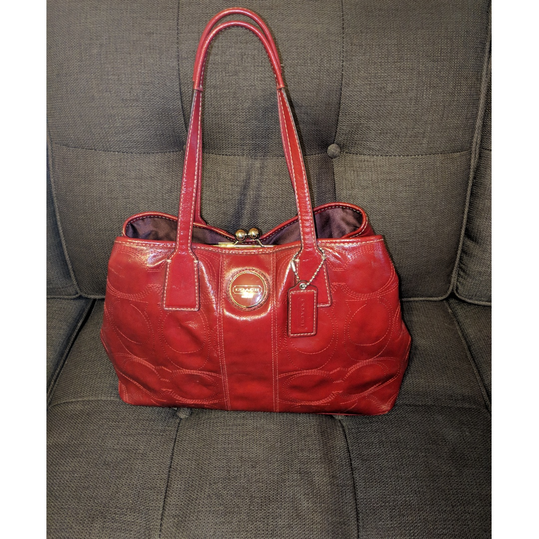 Authentic Coach Purse (Red)