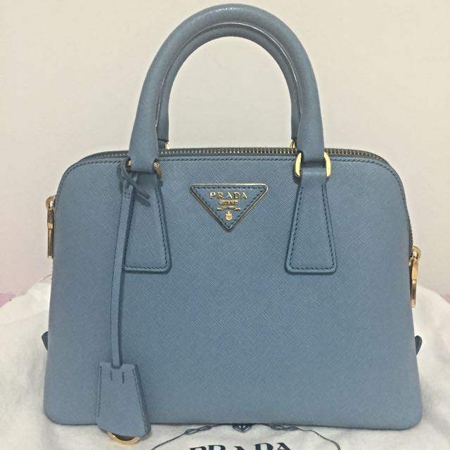 Authentic Prada Saffiano Lux Top Handle Tote