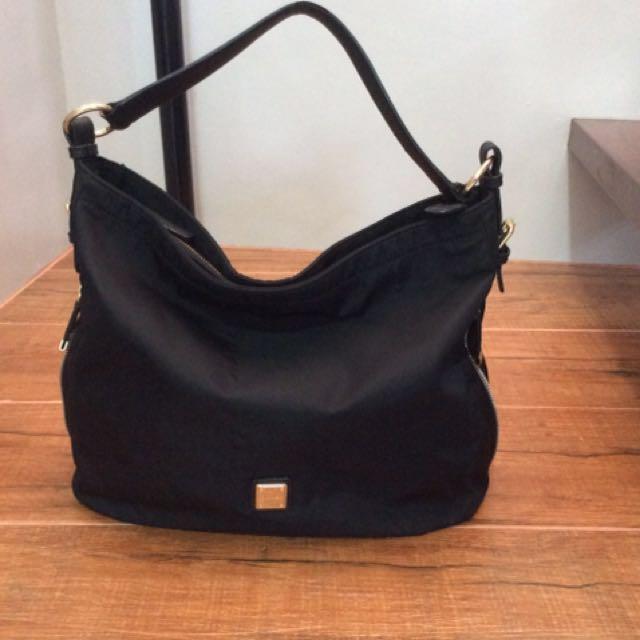 Authentic Sisley nylon hobo