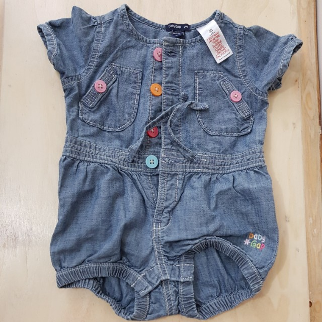 babyGap Denim Onesie 100% Cotton(3-6 mos)