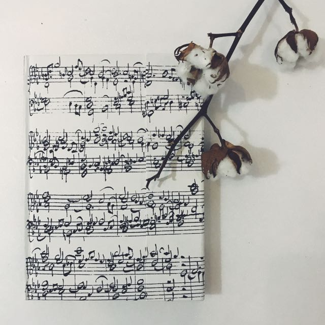 Bach's Music Blank Page, Magnetic, Hard Cover Notebook (Buku Tulis)