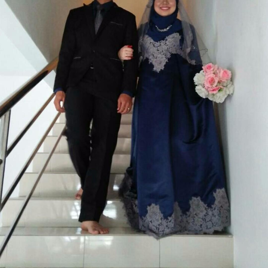 Menarik Baju Pengantin Warna Biru Navy, Paling Seru!