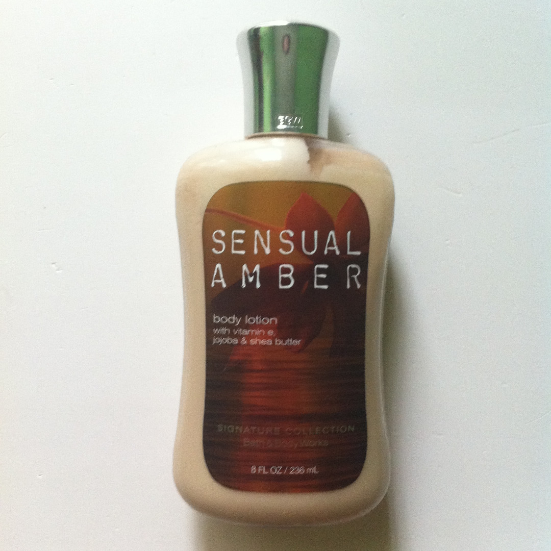 BATH AND & BODY WORKS BBW SIGNATURE COLLECTION BODY LOTION SENSUAL AMBER