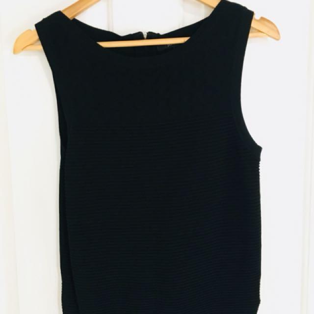 Black knit singlet